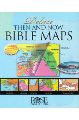 Deluxe Then and Now Bible Maps book with CD-ROM