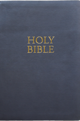 KJV Giant Print Bible | Charcoal | Simulated Leather