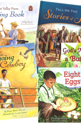 Tell Me the Stories of Jesus, The Seagong Cowboy, Eight Eggs, The Little Church House, God's Miracle, Pleasant Valley Coloring Book Value Pack